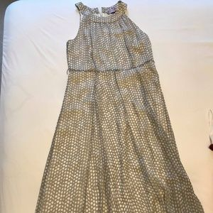Tommy Hilfiger Silver and white long dress size 10